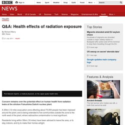 Q&A: Health effects of radiation exposure