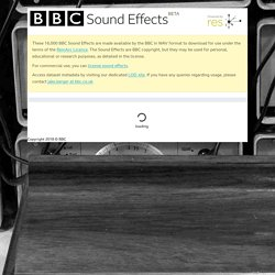 BBC Sound Effects - Research & Education Space