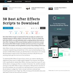 38 Best After Effects Scripts to Download