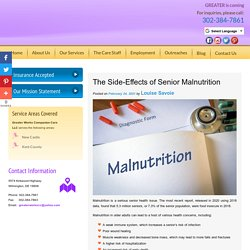 The Side-Effects of Senior Malnutrition