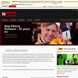 Side Effects Software – 25 years on