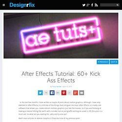 After Effects Tutorial: 60+ Kick Ass Effects