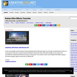 Adobe After Effects Tutorials - Creative COW