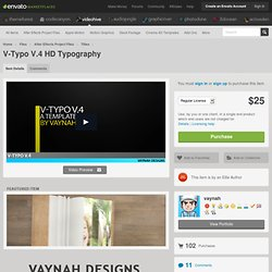 V-Typo V.4 HD Typography - Project Files - VideoHive