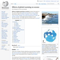 Effects of global warming on oceans