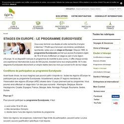 Effectuer un stage en Europe grâce au programme Eurodyssée