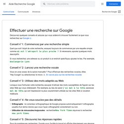 Effectuer une recherche sur Google - Aide Recherche Google