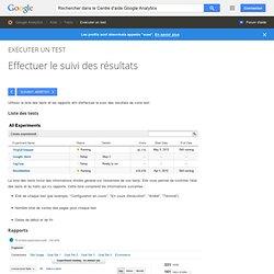 Effectuer le suivi des résultats - Centre d'aide GoogleAnalytics