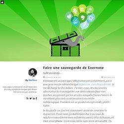 Effectuer une sauvegarde complète d'Evernote Webep