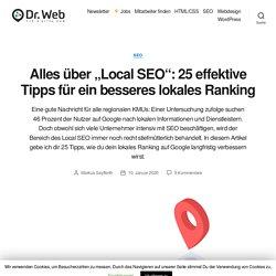 """Alles über """"Local SEO"""": 25 effektive Tipps für ein besseres lokales Ranking"""