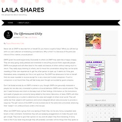 The Effervescent ENFp « Laila Shares