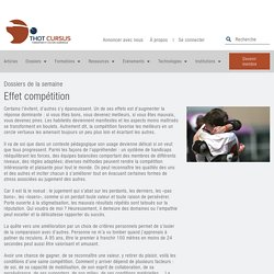 Effet compétition - Thot Cursus