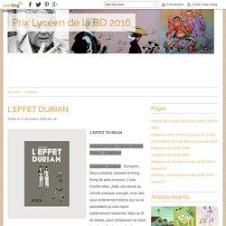 L'EFFET DURIAN - Prix Lycéen de la BD 2016