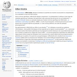 Effet ELIZA