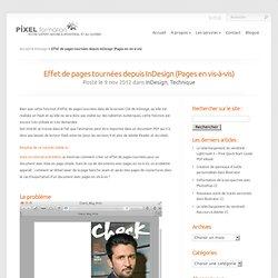Effet de pages tournées depuis InDesign (Pages en vis-à-vis)