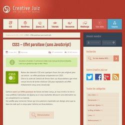 CSS3 – Effet parallaxe (sans JavaScript)