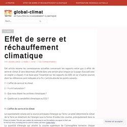 Effet de serre et réchauffement climatique