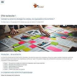 Effet recherche ! Comment la recherche développe les individus, les organisations et les territoires ?