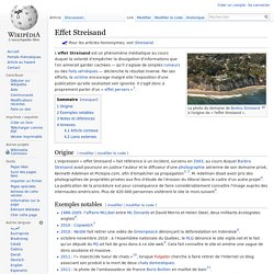 Effet Streisand (Wikipédia)