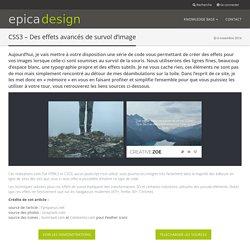 CSS3 – Des effets avancés de survol d'image