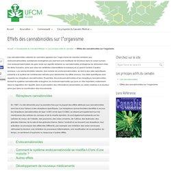 Effets des cannabinoïdes sur l'organisme