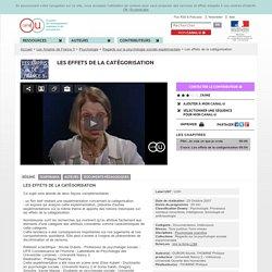 Les effets de la catégorisation - Les Amphis de France 5
