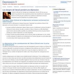 Effets et dangers de l'alcool pendant une dépression