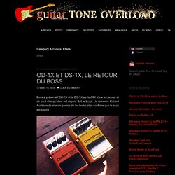 Effets | guitar TONE OVERLOAD