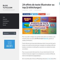 24 effets de texte Illustrator au top (à télécharger) - Blog Tuto.com