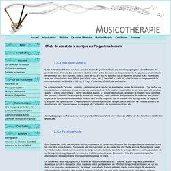 Effets du son et de la musique sur l'organisme humain
