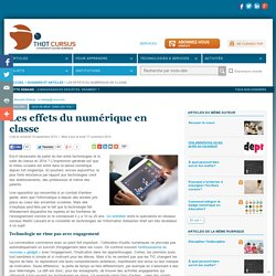 Les effets du numérique en classe