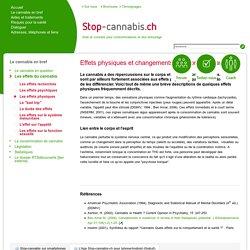 Les effets physiques - Stop-Cannabis.ch