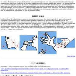 Les effets de la radioactivité sur le corps humain