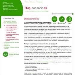 Les effets recherchés - Stop-Cannabis.ch - Une aide pour l'arrêt de la consomation du cannabis