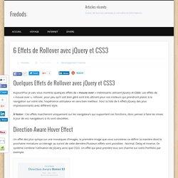 6 Effets de Rollover avec jQuery et CSS3 » Le blog de Fredods