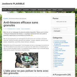 Anti-limaces efficace sans granulés - Jardinerie PLAISIBLE