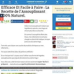 Efficace Et Facile à Faire : La Recette de l'Assouplissant 100% Naturel.