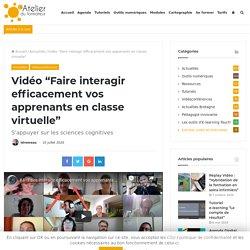 """Replay Vidéo """"Faire interagir efficacement vos apprenants en classe virtuelle"""""""