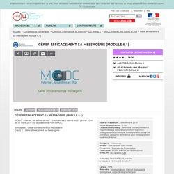 Gérer efficacement sa messagerie (Module 6.1) - Compétences numériques