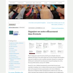 Organiser ses notes efficacement dans Evernote