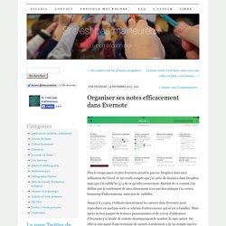 Organiser ses notes efficacement dans Evernote