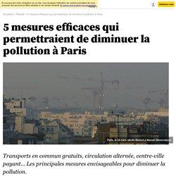 5 mesures efficaces qui permettraient de diminuer la pollution à Paris