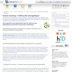 Green hosting - Innovations Hébergement