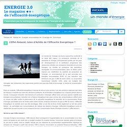 L'Effet-Rebond, talon d'Achille de l'Efficacité Energétique ?
