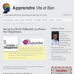 80/20 La Clé De l'Efficacité, La Preuve Par l'Expérience.