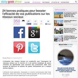 24 bonnes pratiques pour booster l'efficacité de vos publications sur les réseaux sociaux