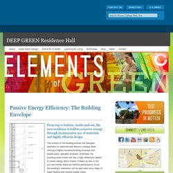 Passive Energy Efficiency: The Building Envelope - DEEP GREEN Residence Hall