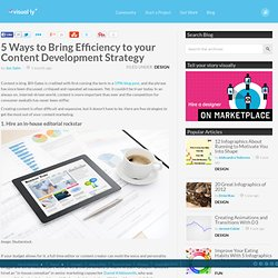 5 Ways to Bring Efficiency to your Content Development Strategy