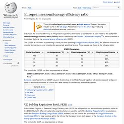 European seasonal energy efficiency ratio