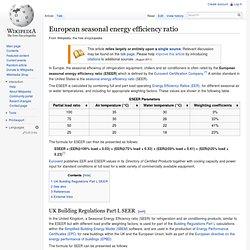 European seasonal energy efficiency ratio